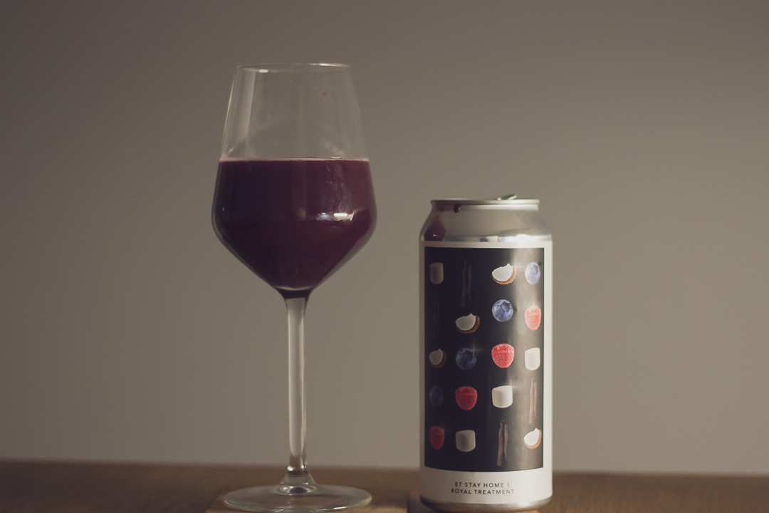 Evil Twin NYC (US) – Stay Home 1 Royal Treatment   7% Fruited Sour with Blueberry, Raspberry, Coconut, Cocoa, Marshmallow, and Vanilla